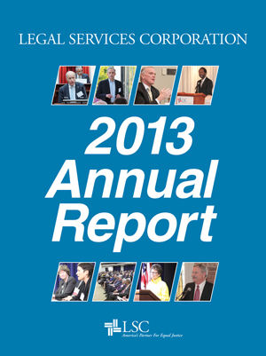 imge of lsc's annual report 2013 cover