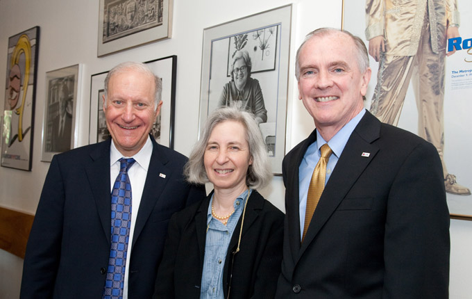 LSC Board Chairman John Levi, Vice Chair Martha Minow, LSC President James Sandman