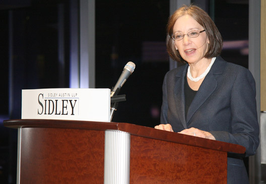 Judge Diana P. Wood of the U.S. Court of Appeals for the Seventh Circuit delivers keynote