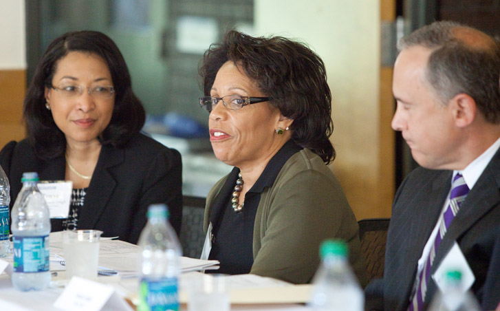 Pro Bono Task Force members Teresa Roseborough, JoAnne Epps and David Kutik (left to right).