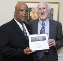 Left to Right: Rep. Bennie Thompson (D-Miss.) and LSC Senior Program Counsel John C. Eidleman.