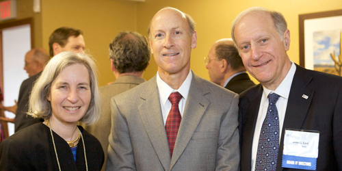 Left to Right: LSC Vice Chair Martha Minow, Justice Pelander and Chairman Levi.