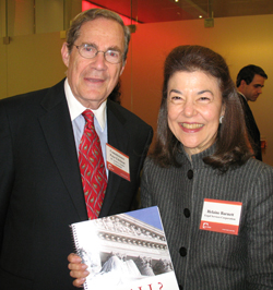 LSC President Helaine M. Barnett and D.C. Access to Justice Commission Chairman Peter B. Edelman hold a copy of the report.
