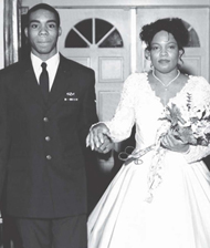 Ms. Renee Green and her son Galen at her wedding on December 31, 1998.
