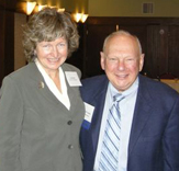 PTLA Executive Director Nan Heald, left, stands with LSC Board Member Herbert S. Garten.