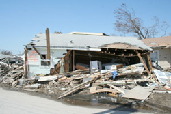 An example of the wreckage caused by Hurricane Ike in Galveston, Texas. Photo by Britney Jackson of Lone Star Legal Aid.