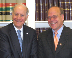 LSC Board Chairman John G. Levi, left, with Rep. Steve Cohen, Chairman of the House Judiciary Subcommittee on Commercial and Administrative Law.