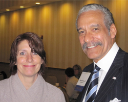 Ellen Lawton, executive director of the National Center for Medical-Legal Partnership, with Robert Grey.