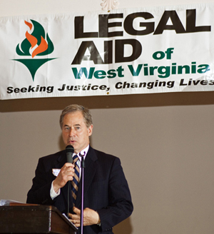 Congressman Alan Mollohan accepts his Star Award from Legal Aid of West Virginia.