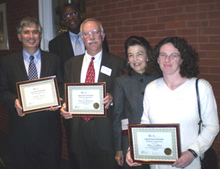 Left to Right: David J. Canarie, LSC Board Member David Hall, Peter B. Bickerman, LSC President Helaine M. Barnett, Dina A. Jellison.