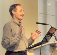 LSC's Glenn Rawdon, presenting at a technology conference hosted by Legal Aid Ontario.