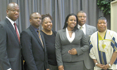 Left to right: LSC Staff Arthur Ford, Patrick Gatere, Wendy Burnette Long, Janine Alston, Moe Wilson, and Katrina Miller, Principal of the Annapolis Road Academy Alternative High School.