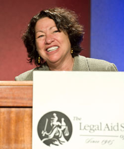 Sotomayor at the Legal Aid Society of Cleveland's Presence of Justice event on Sept. 10. Picture courtesy of the Legal Aid Society of Cleveland.