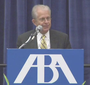 Tribe speaks at the ABA Annual Meeting.