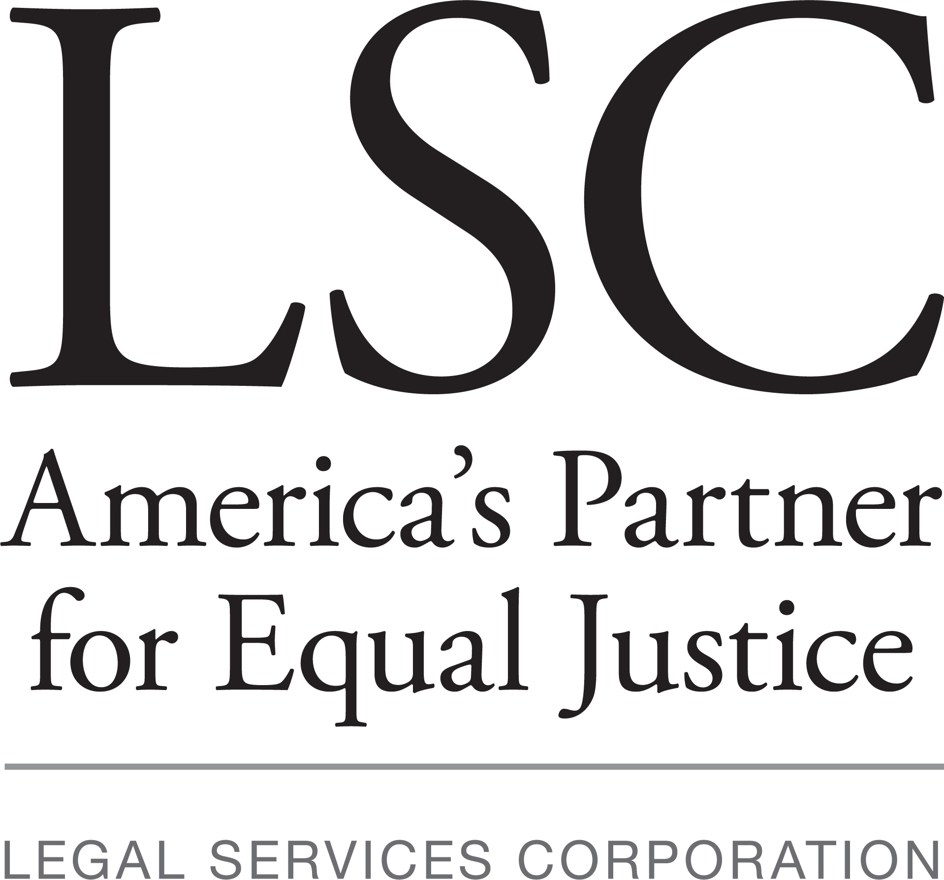LSC Logo in Grayscale