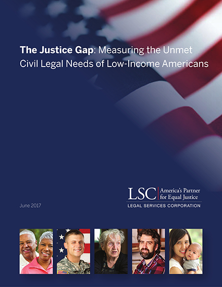 Justice Gap Report Cover Image