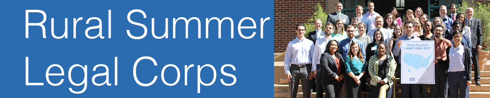 Thirty law students spent their summer providing critical legal services to low-income Americans living in rural communities. Learn about the Rural Summer Legal Corps program and its mission by clicking above.