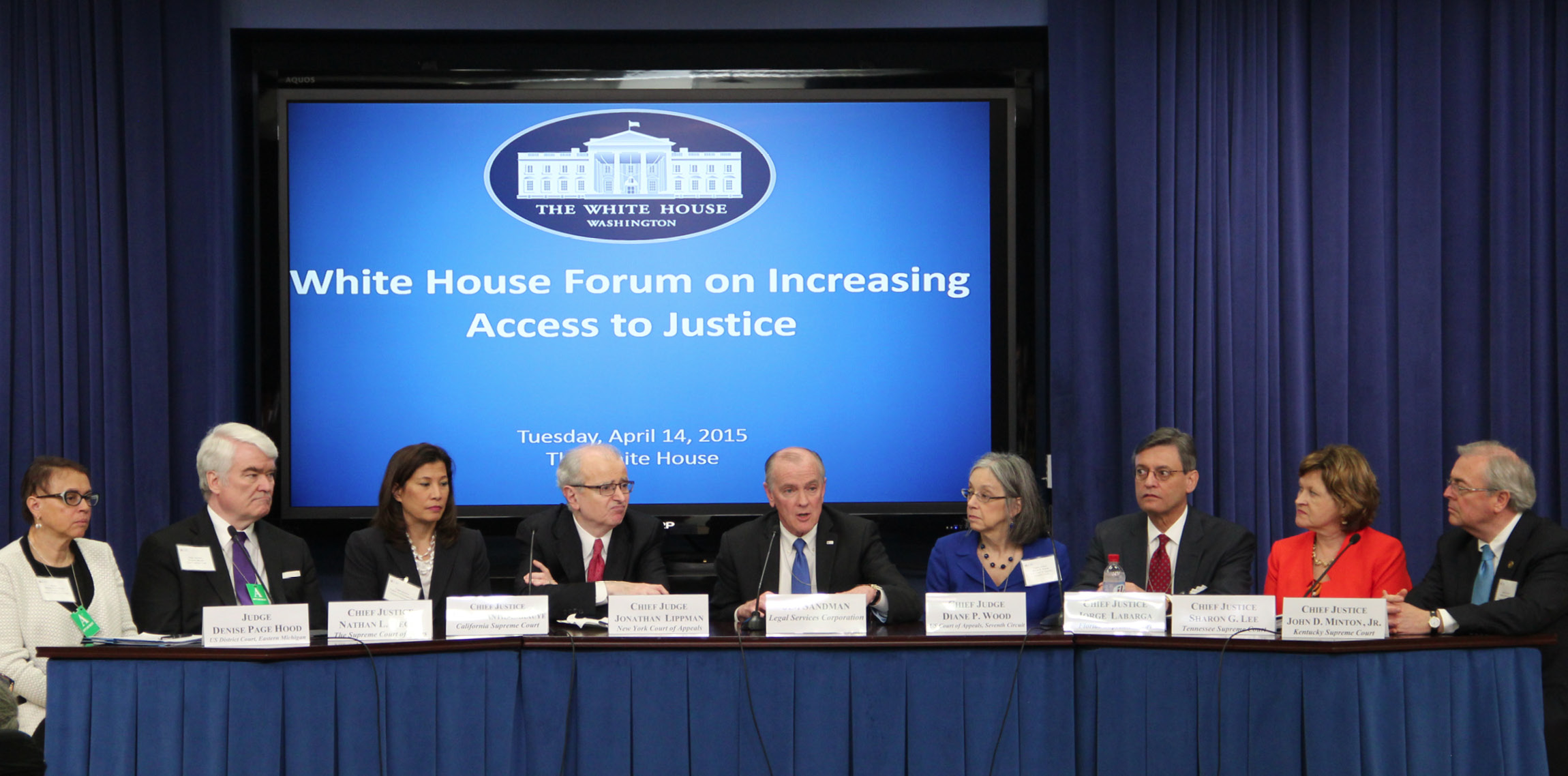 2015 WH Access to Justice Panel Photo